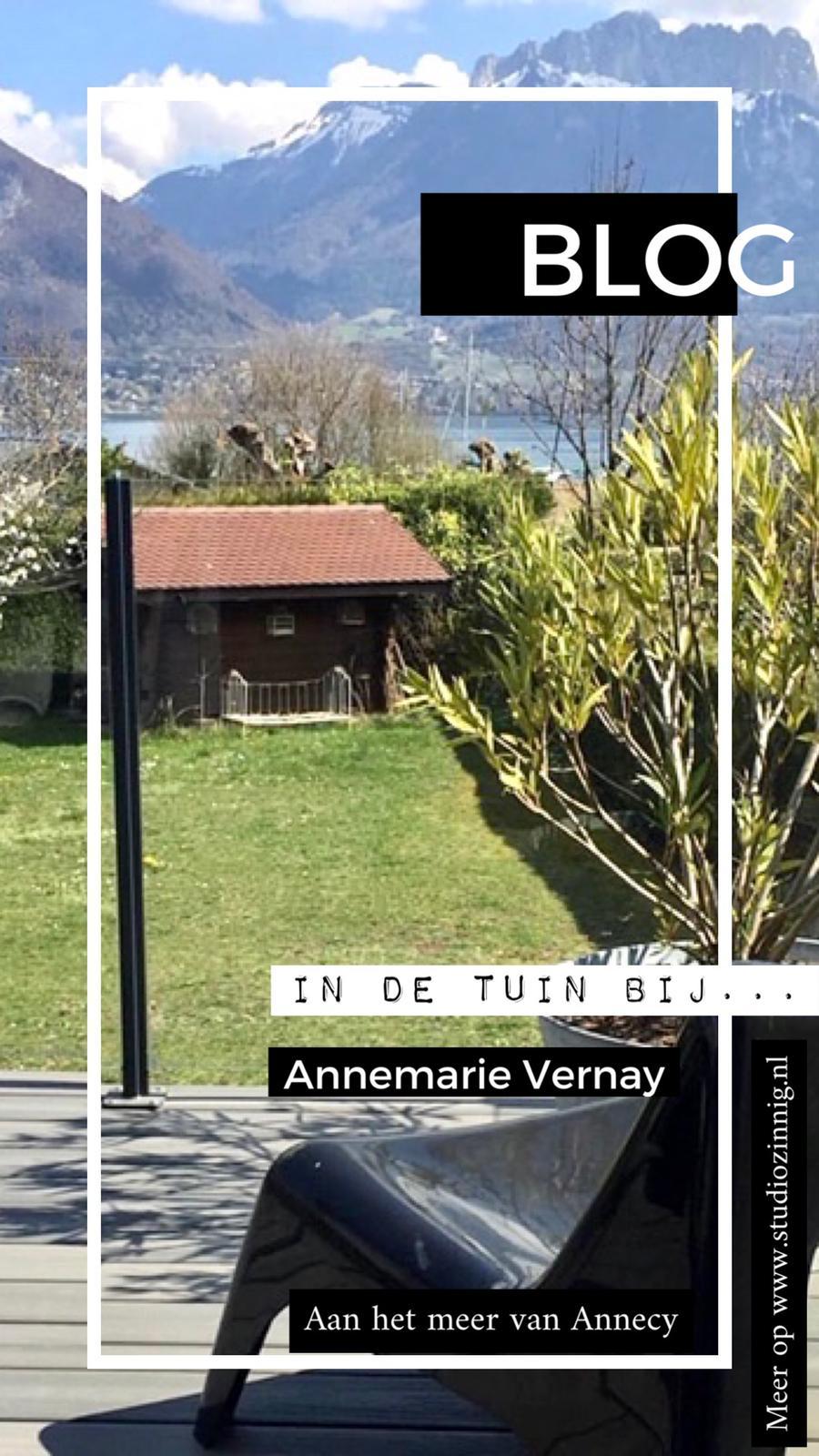 'In de tuin bij' Annemarie in Annecy
