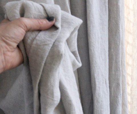 detail linnen gordijnen, soepel. echtgordijn