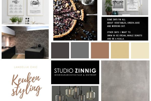 Keuken styling Showroom. moodboard