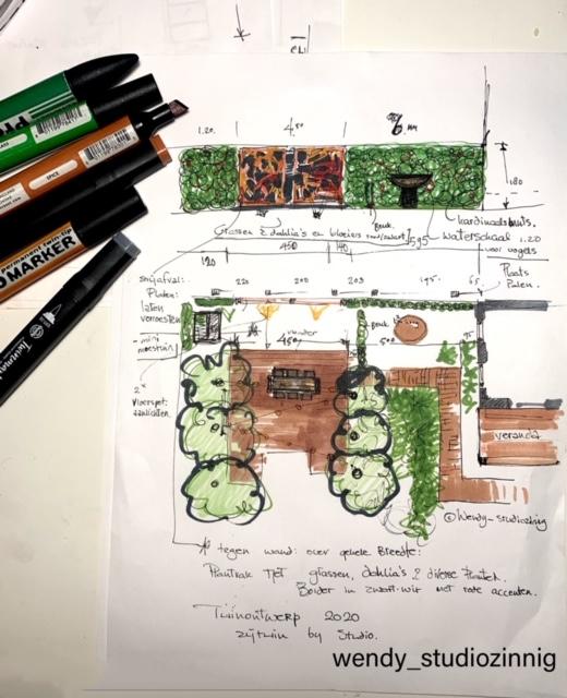 schets tuinontwerp