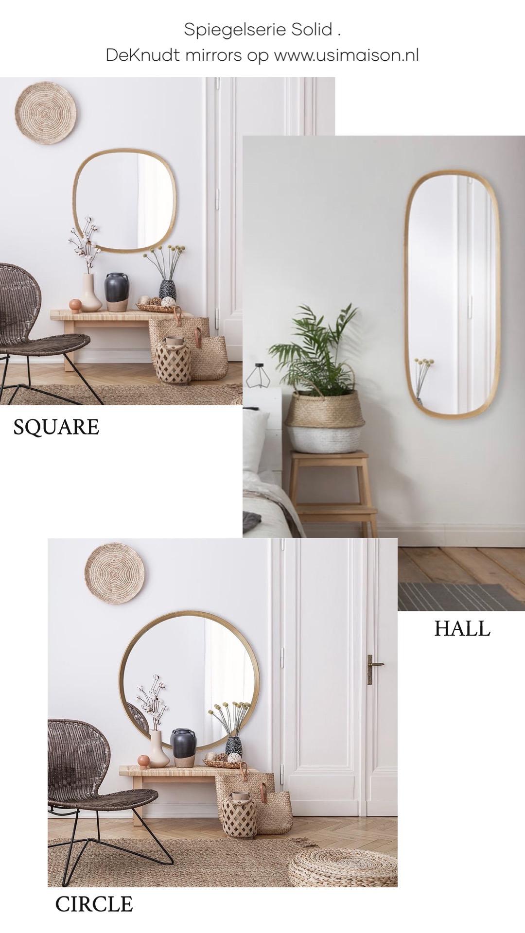 Solid serie spiegels van www.usimaison.nl
