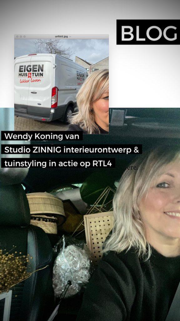 Wendy van Studio Zinnig in Eigen Huis & Tuin Lekker Leven op RTL4