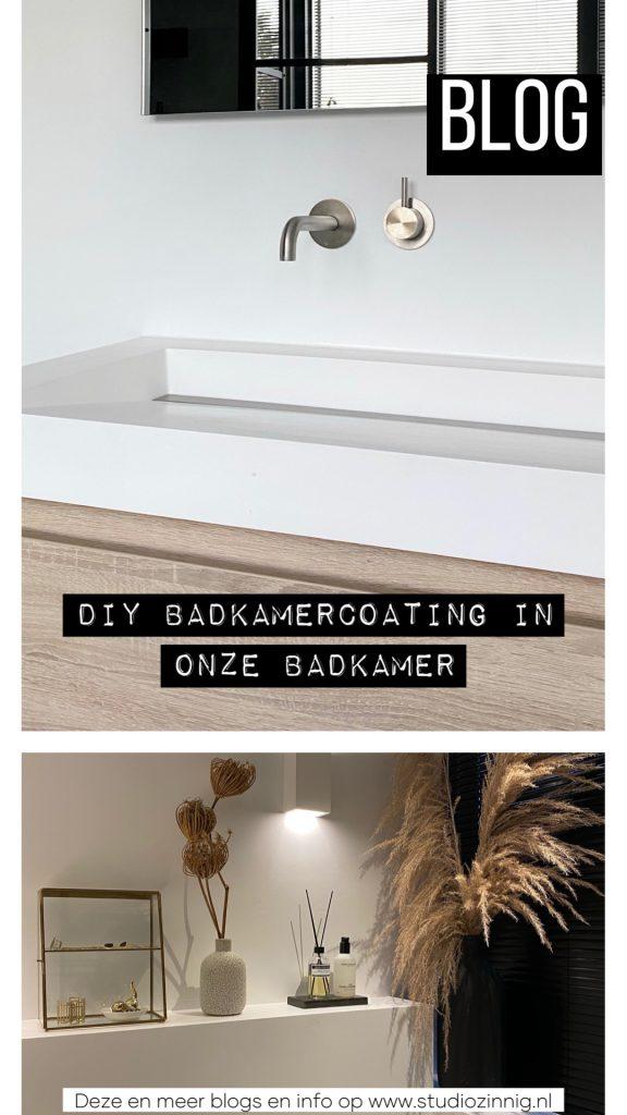 DIY Badkamercoating in onze badkamer